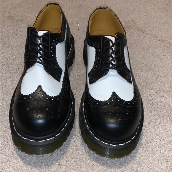 Dr Martens Black And White Brogues
